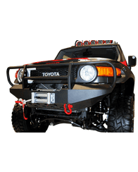 FJ Cruiser Front Winch Bumper w/ D-Ring Mounts by Warrior, with Brush Guard (3530)