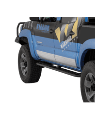 2005-2015 Toyota Tacoma Sideplates - Aluminum Diamond Plate - Double Cab by Warrior Products (4900)