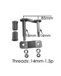 Individual Leaf Spring Shackle Kit, Stock Height For 1995-2004 Tacoma (TS005)