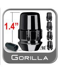 Gorilla Black Chrome Wheel Lock Set (5 Locks - M12-1.5 x 35.56 mm) for 07-14 FJ Cruiser (71631NBC5)