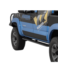2005-2015 Toyota Tacoma Sideplates - Smooth Black Steel - Double Cab by Warrior Products (S4900)