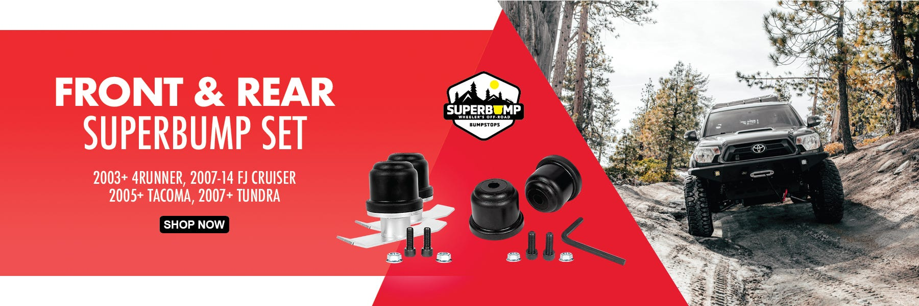 SuperBump Complete Front & Rear Bumpstop Kits from Wheeler's Off-Road